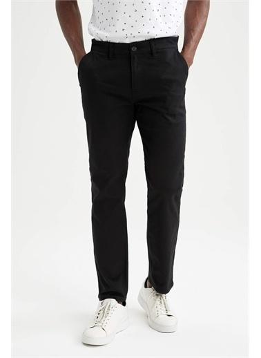 DeFacto Regular Fit Basic Chino Pantolon Siyah